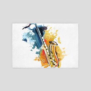 Saxophone Painting 4' x 6' Rug