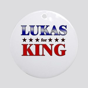 LUKAS for king Ornament (Round)
