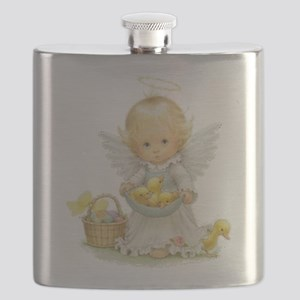 Cute Easter Angel And Ducklings Flask