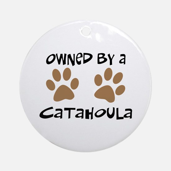 Owned By A Catahoula Ornament (Round)
