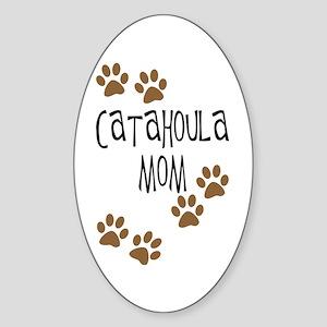 Catahoula Mom Oval Sticker