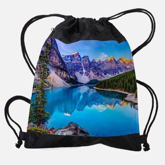 Beautiful Mountain Landscape Drawstring Bag