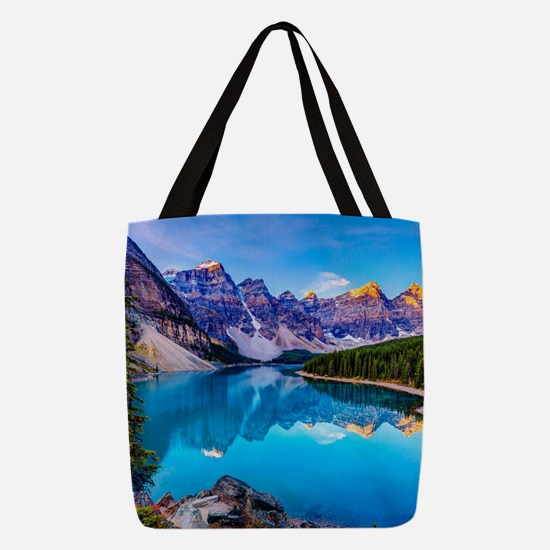 Beautiful Mountain Landscape Polyester Tote Bag