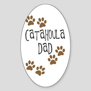 Catahoula Dad Oval Sticker