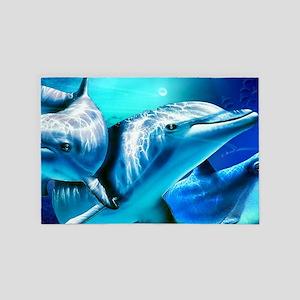 Dolphins 4' x 6' Rug