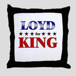 LOYD for king Throw Pillow
