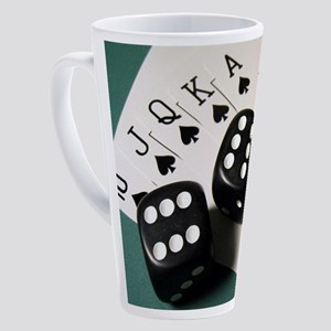 Cards And Dice 17 oz Latte Mug