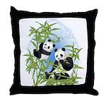 Panda Bears Throw Pillow