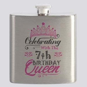 Celebrating With the 7th Birthday Queen Flask