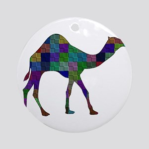 CAMEL SHAPED Round Ornament