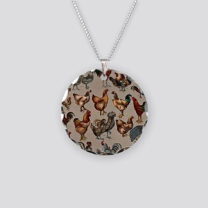 World Poultry Necklace Circle Charm