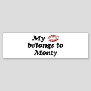 Kiss Belongs to Monty Bumper Sticker