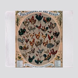 World Poultry Throw Blanket