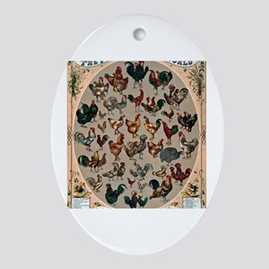 World Poultry Oval Ornament