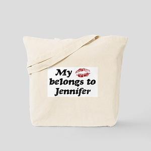 Kiss Belongs to Jennifer Tote Bag