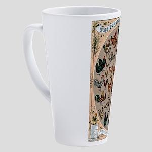 World Poultry 17 oz Latte Mug