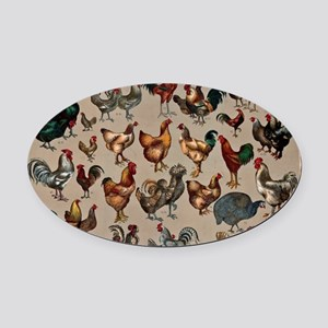 World Poultry Oval Car Magnet