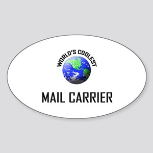 World's Coolest MAIL CARRIER Oval Sticker