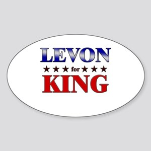 LEVON for king Oval Sticker