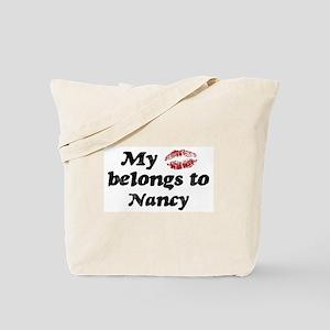 Kiss Belongs to Nancy Tote Bag