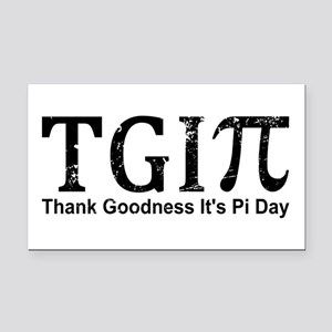 TGIPi - Thank Goodness It's P Rectangle Car Magnet