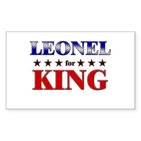 LEONEL for king Rectangle Sticker
