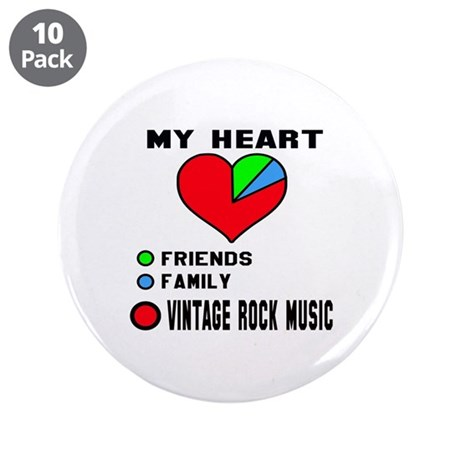 """My Heart Friends, Family, Vi 3.5"""" Button (10 pack)"""