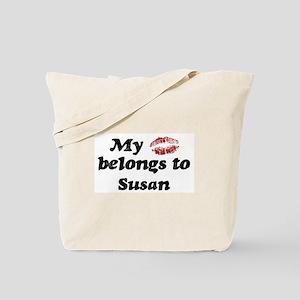 Kiss Belongs to Susan Tote Bag
