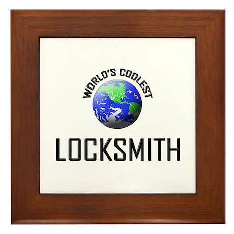 World's Coolest LOCKSMITH Framed Tile