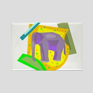 ELEPHANT (20) Rectangle Magnet