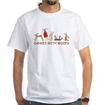 Dancing with Woofs (female) White T-Shirt
