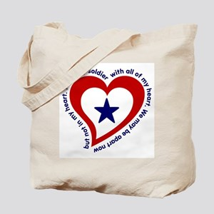 Army Soldier Service Flag Poem Tote Bag