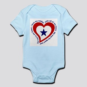 Army Soldier Service Flag Poem Infant Creeper