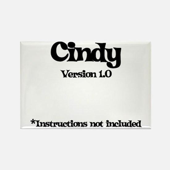 Cindy - Version 1.0 Rectangle Magnet