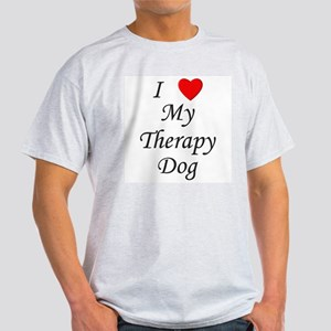 I Love My Therapy Dog Light T-Shirt