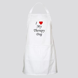 I Love My Therapy Dog Apron