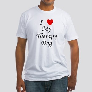 I Love My Therapy Dog Fitted T-Shirt