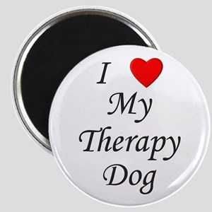 I Love My Therapy Dog Magnet