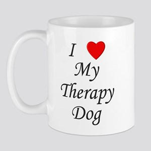 I Love My Therapy Dog Mug