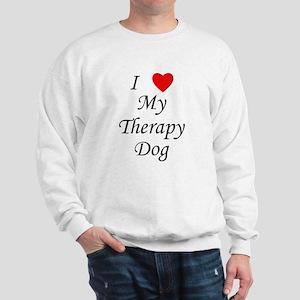 I Love My Therapy Dog Sweatshirt
