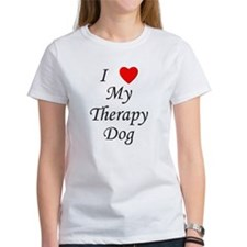 I Love My Therapy Dog Women's T-Shirt