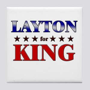 LAYTON for king Tile Coaster
