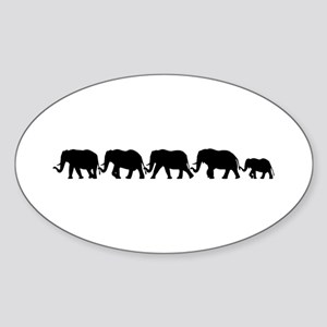 ELEPHANT LINE Oval Sticker