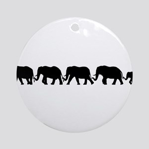 ELEPHANT LINE Ornament (Round)