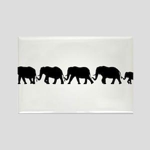 ELEPHANT LINE Rectangle Magnet