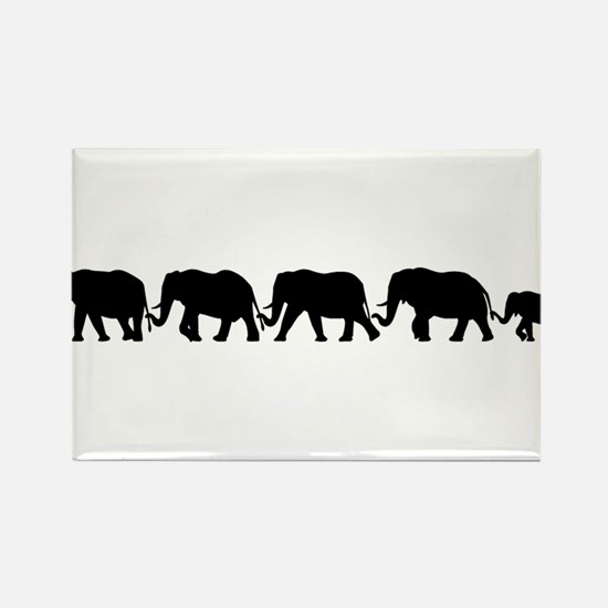ELEPHANT LINE Rectangle Magnet (100 pack)