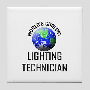 World's Coolest LIGHTING TECHNICIAN Tile Coaster
