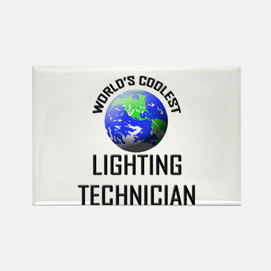 World's Coolest LIGHTING TECHNICIAN Rectangle Magn