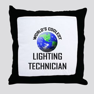 World's Coolest LIGHTING TECHNICIAN Throw Pillow
