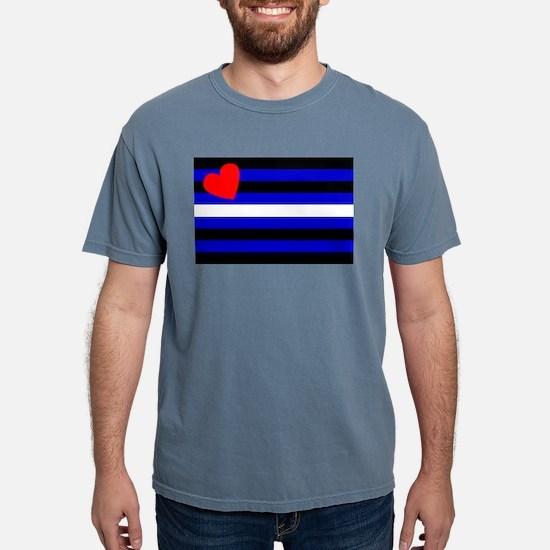 Leather Pride Flag Ash Grey T-Shirt